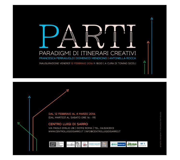 Invito mostra Parti - Roma - biancavolta