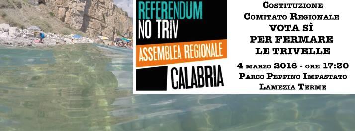 """Nasce """"Comitato Regionale vota SI per fermare le trivelle"""""""