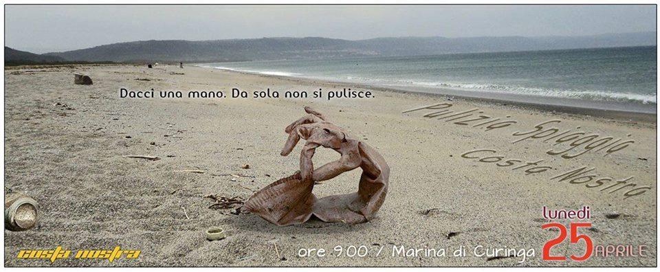 """Il 25 aprile """"pulizia spiaggia"""" a Curinga con """"Costa Nostra"""""""