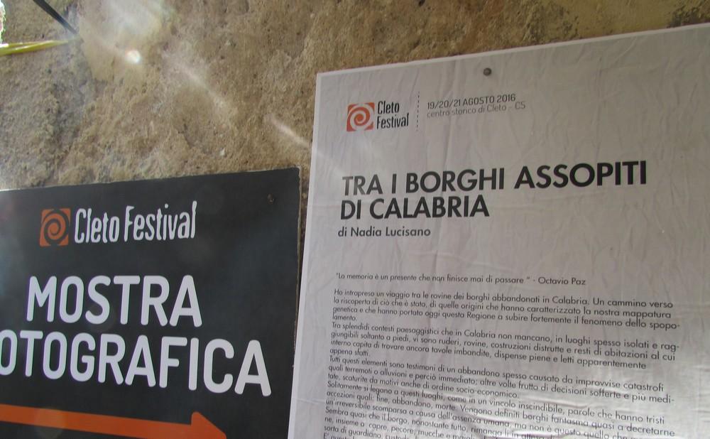 Cleto Festival VI – Le mostre: Nadia Lucisano.