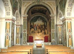 Fig. 2 interno della Chiesa dei SS, Cosma e Damiano