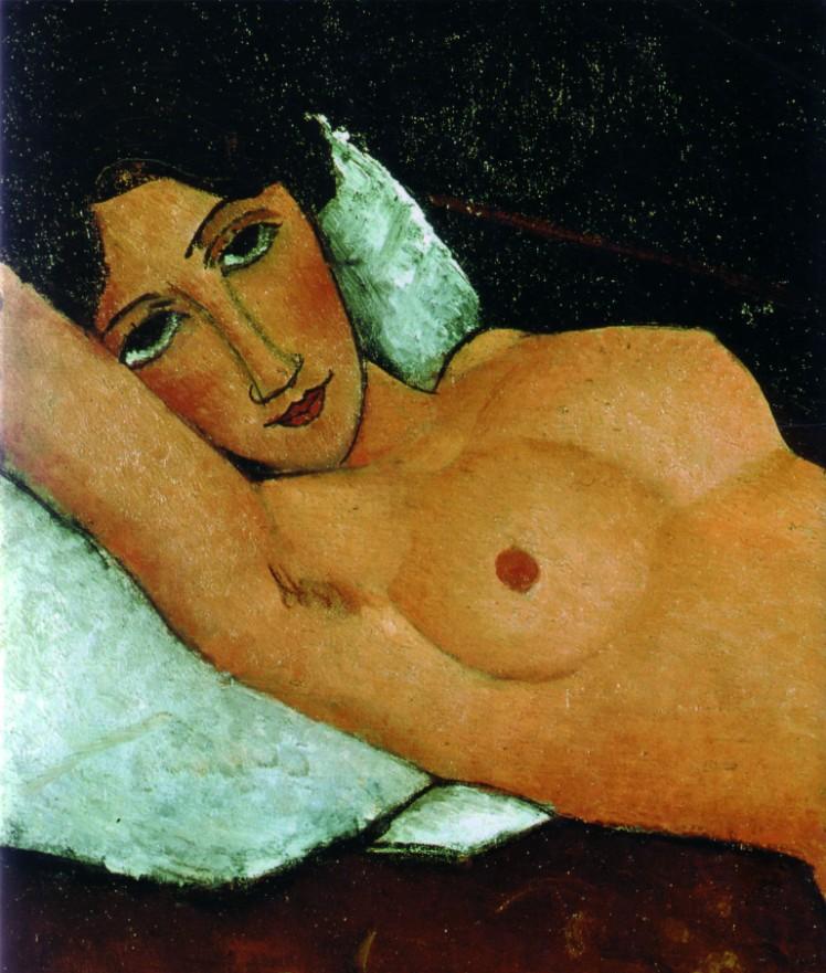 modigliani-nudo-sdraiato-su-cuscino-bianco-1917-18-stoccarda-staatsgalerie
