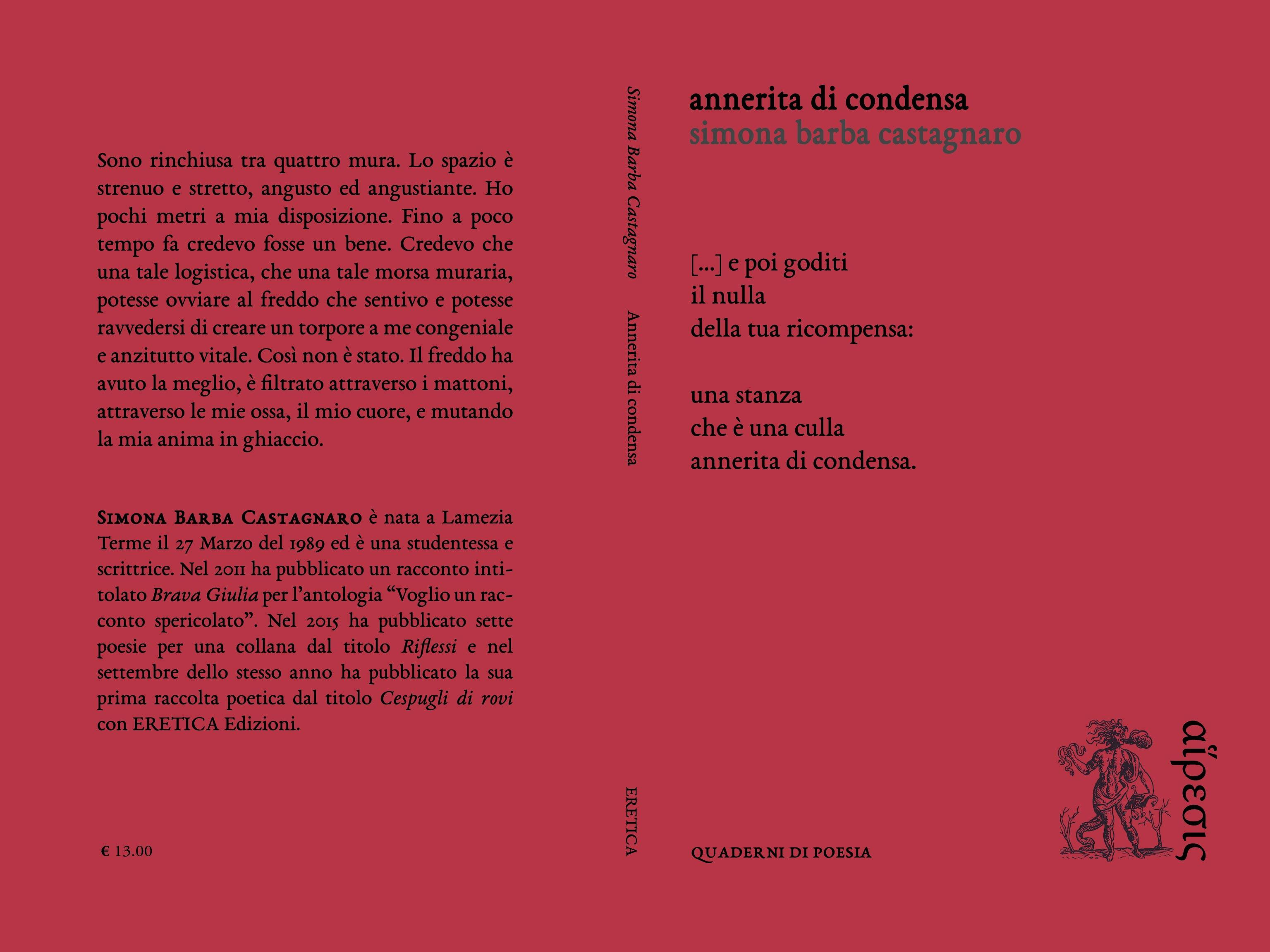 """Presentazione """"Annerita di condensa"""" di Simona Barba Castagnaro"""