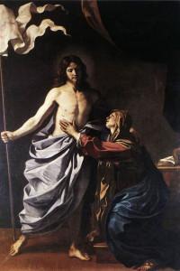 """Guercino, Apparizione di Cristo alla madre (1628-1630; olio su tela, 260 x 179,5 cm; Cento, Pinacoteca Civica """"Il Guercino"""")"""