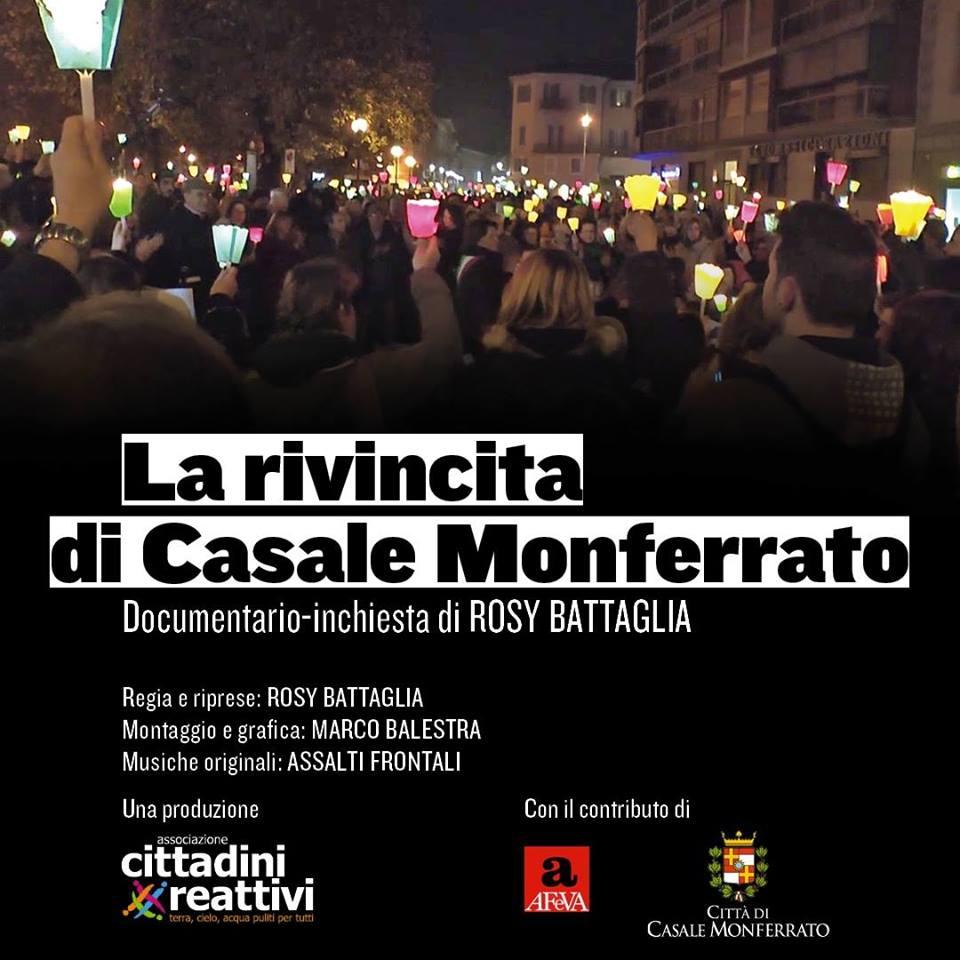 """""""La rivincita di Casale Monferrato"""" presentazione documentario – inchiesta di Rosy Battaglia sabato 19 gennaio a Lamezia Terme"""