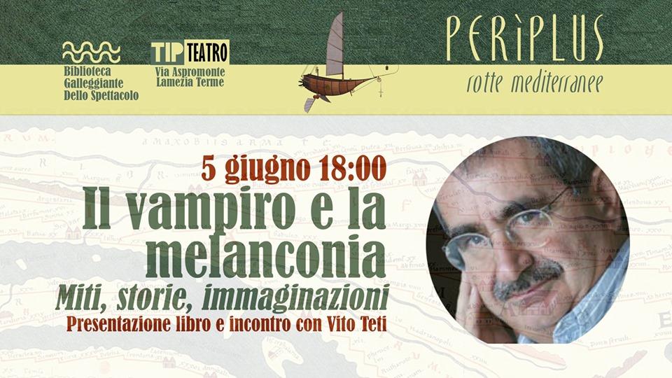 """Lamezia, """"Il vampiro come metafora"""", incontro con l'antropologo Vito Teti"""