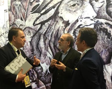 Maurizio Carnevali di ritorno dal Salone del libro di Torino, circa 3000 persone allo stand di Patrimoni d'Arte
