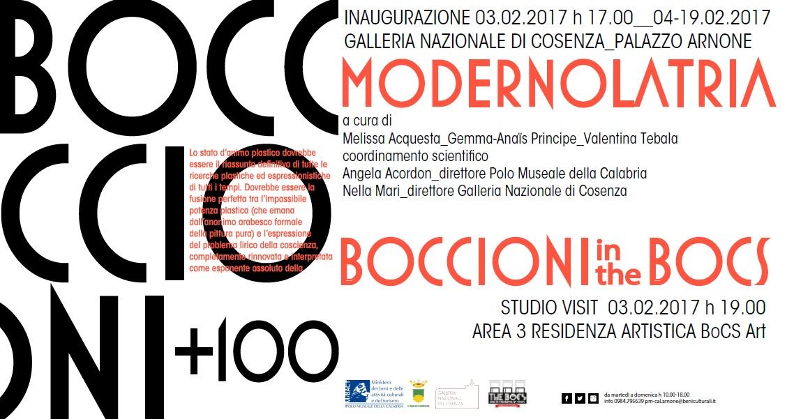 BOCCIONI 100+ Dal 3 febbraio a Cosenza una serie di manifestazioni dedicate al maestro futurista