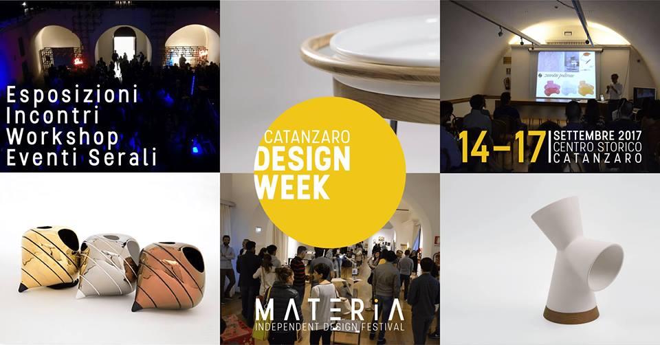 """""""Catanzaro Design Week II edizione"""", Materia Indipendent Design Festival dal 14 al 17 settembre"""