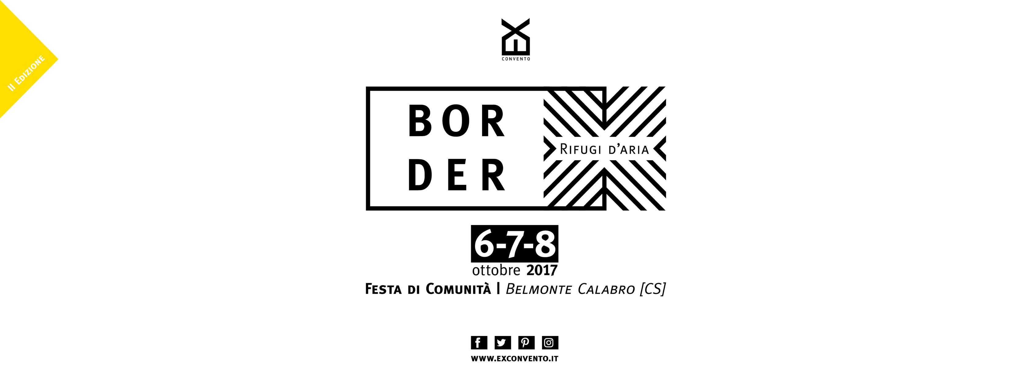 rifugi d'aria_BORDER, festa di comunità a Belmonte dal 6 all'8 ottobre