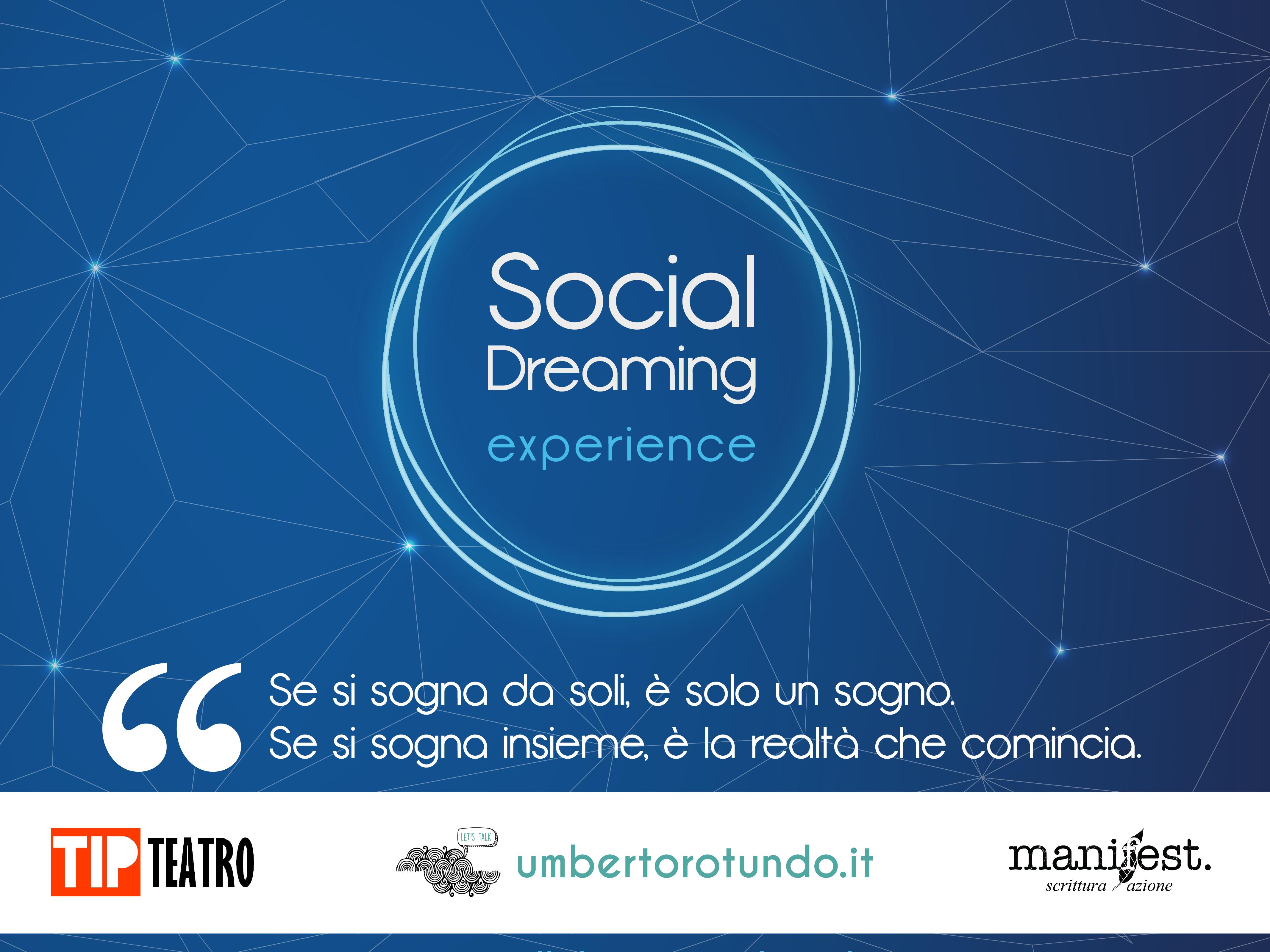 Il 27 ottobre primo social dreaming experience al TIP Teatro Lamezia Terme