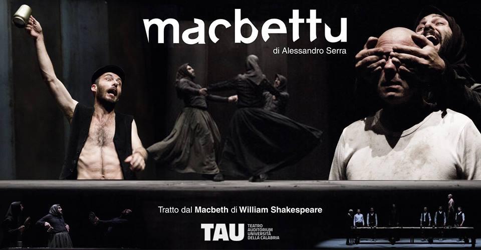 """""""Macbettu"""" di Sardegna Teatro 20 febbraio doppio appuntamento al TAU di Cosenza"""