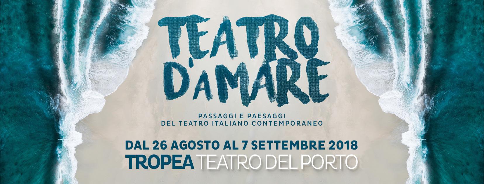 """Ritorna a Tropea il Teatro d'Amare, """"Raccontiamo le storie di un Sud che ha voglia di rivincita"""""""