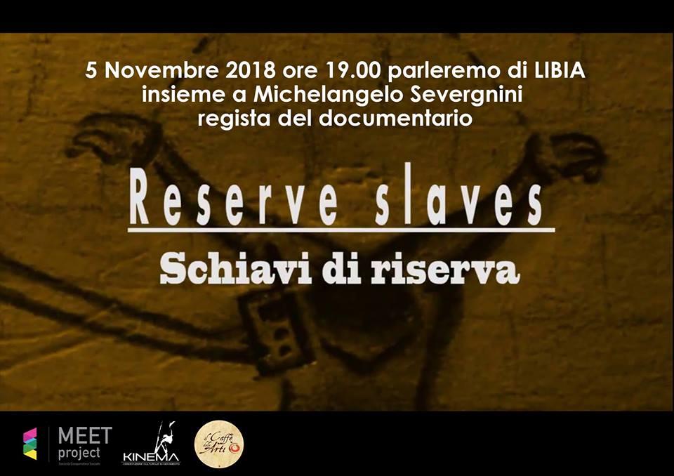 """""""Schiavi di riserva"""" un focus sulla Libia, lunedì al Centro Polivalente di Catanzaro"""