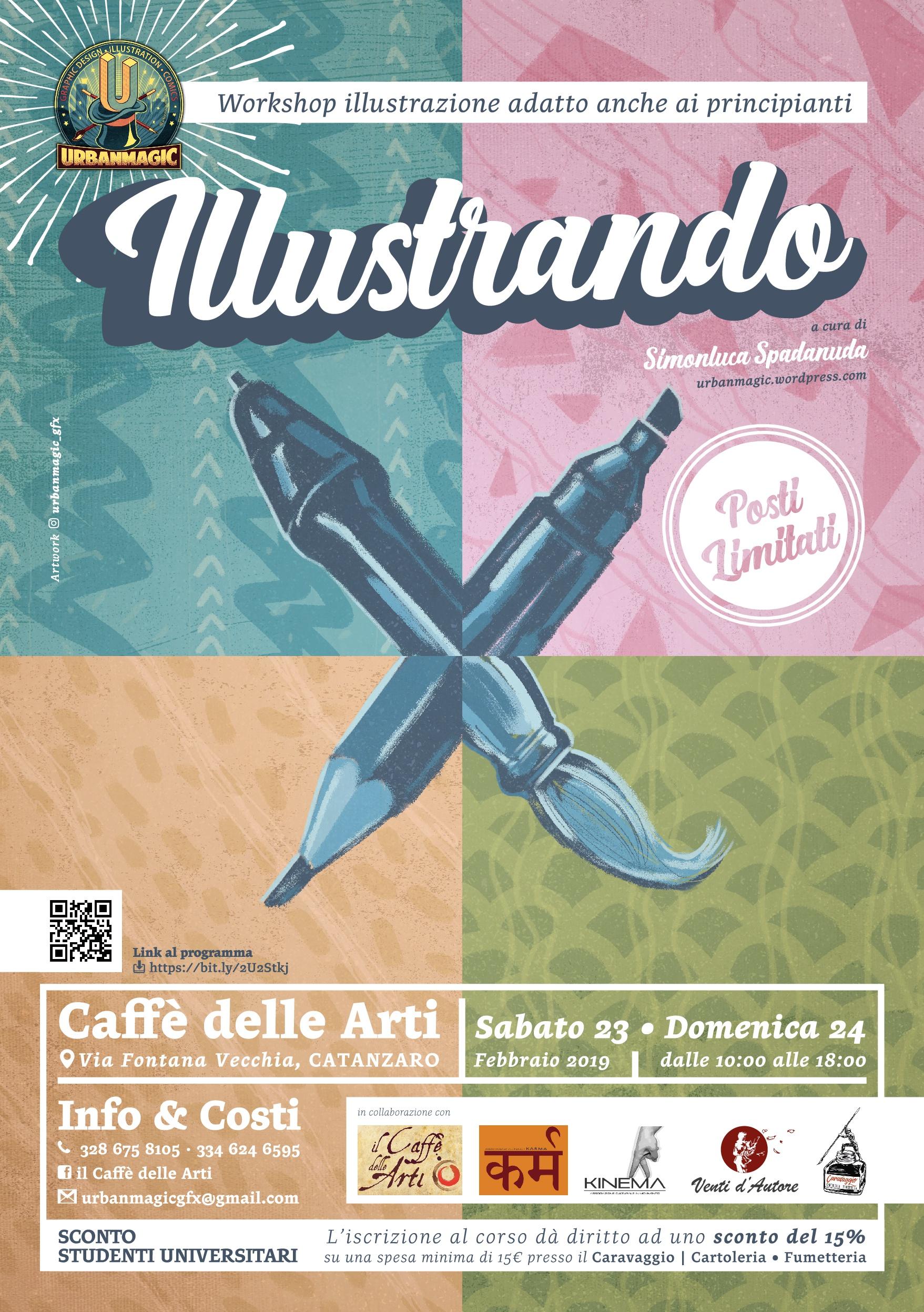 Workshop di illustrazione, il 23 e il 24 febbraio al Caffè delle Arti Catanzaro