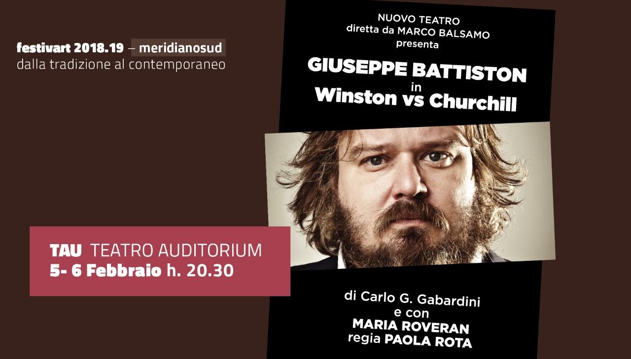"""Giuseppe Battiston in  """"Winston vs Churchill"""" in scena al Tau di Cosenza il 5 e il 6 febbraio"""